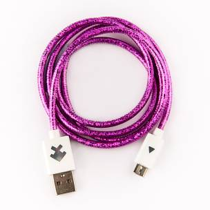 Xcyte Ultra fast Android USB recharge cable (PURPLE) – 1 metre