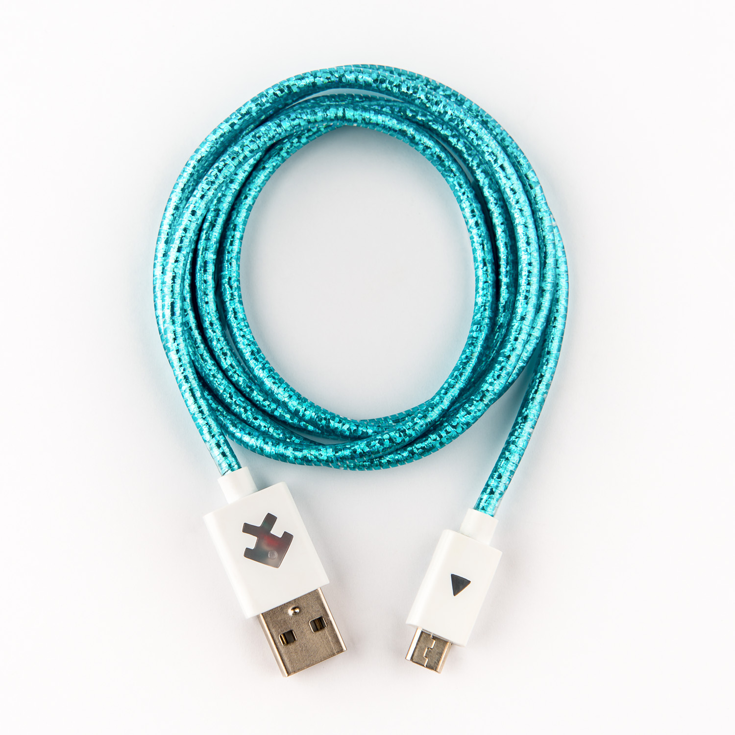 Xcyte Ultra fast Android USB recharge cable (CYAN) – 1 metre